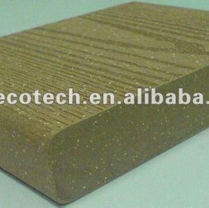 La venta caliente! 100% reciclado wpc piso ( a prueba de agua, resistencia a rayos uv, resistencia a la pudrición y el crack )