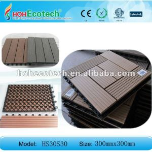 Tuile en plastique en bois de /bathroom de tuile du decking tiles/DIY de plancher du composé WPC de HOH Ecotech