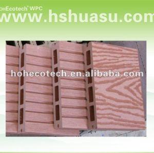 El vario color de wpc carretera tablón decking/decking compuesto/hohecotech decking del wpc hueco de madera