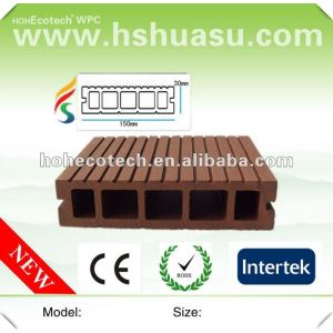 top quality water resistant wood plastic composite decking