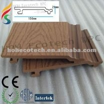 wood-color outdoor wpc wall panel/garden wall panel/wall cladding