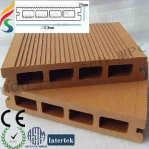 ecológica wood plastic decking ao ar livre