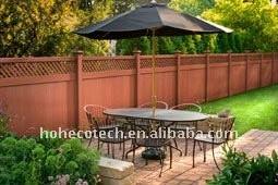 Decking composé en plastique en bois respectueux de l'environnement/decking en bois wpc de plancher (CE, ROHS, ASTM, OIN 9001, OIN 14001, Intertek)