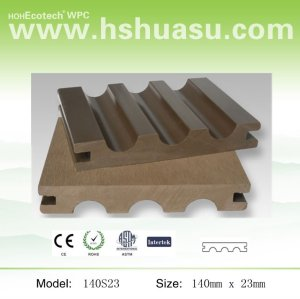 wood plastic composite decking