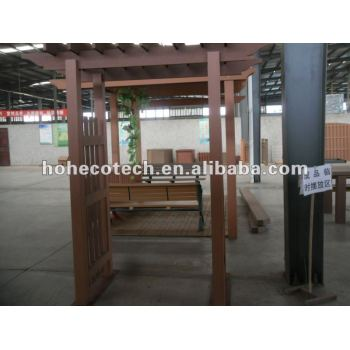 wood plastic cmposite garden gazebo/pergola/pavillion for ourdoor furniture