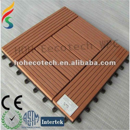 Different size wood plastic composite building material for Plastic decking material