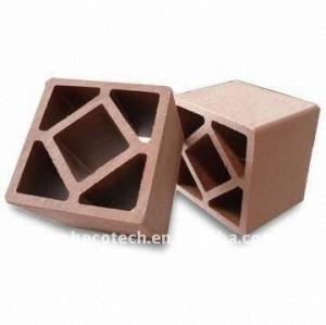 clôture en plastique du bois de composés de balustrades de /stair de balustrade de plate-forme de 120*120mm CUSTOM-LENGTH