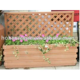 Corrosion-resistant and anti worm-eaten wpc flower pot
