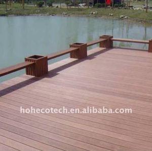 Madera/madera suelo composición más popular! Suelo ~laminate decking del wpc/suelo