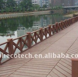WPC decking for floating bridge