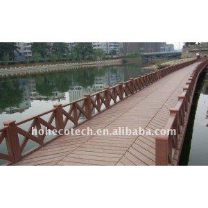 WPC decking for floating bridge