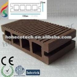 木製のプラスチックDeckingのセリウムISO9001 ISO14001は承認した
