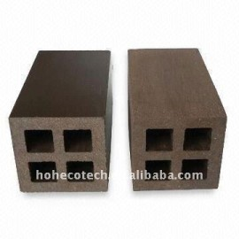 55*55mmY Hollow lighter design small size WPC POST wpc fencing wpc deck railing /stair railings
