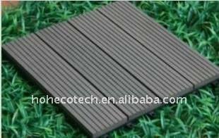 Plancher du decking WPC/decking composés en plastique en bois extérieurs de PONÇAGE