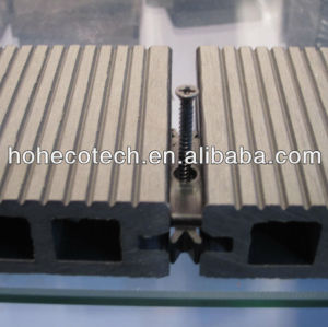 Grooved (Wood plastic composite) wpc decking/flooring plastic decking/wpc wood lumber