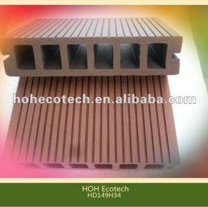 Decking composé en plastique en bois creux de wpc de 2012 wpc/