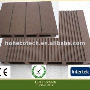 Azulejo de piso al aire libre del wpc respetuoso del medio ambiente durable (prueba del agua, resistencia ULTRAVIOLETA, resistencia a descomponerse y grieta)
