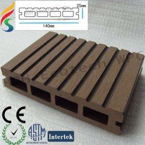 Anti-UVhölzerner zusammengesetzter Decking-Plastikbodenbelag