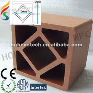 Recycled high quality outdoor decorative wood plastic composite wpc fencing post