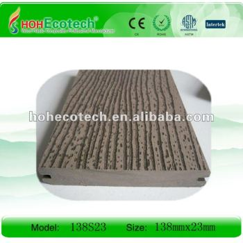 CE/ROHS/Intertek appproved embossed WPC solid decking/flooring, wpc deck with wood grain