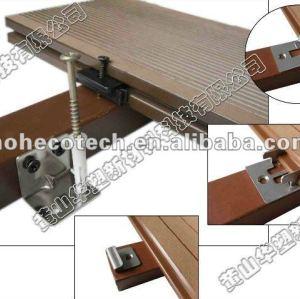 Les accesorries de decking de WPC coupent et les vis finissent le composé en bois composé de wpc de /flooring de Decking du bois de construction WPC d'agrafe d'attache