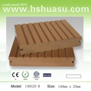 Bois de charpente extérieur composé en bois de plastique de plancher du decking WPC de WPC