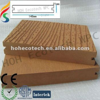 HOH Ecotech wood and Plastic Composite Flooring/decking(waterproof/Wormproof/Anti-UV/Resistant to rot and mold )