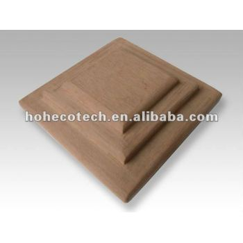 wood plastic composite good quality wpc fencing post cap