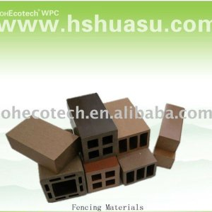 Aufbereitete im Freien hölzerne zusammengesetzte wpc Zaunplastikmaterialien