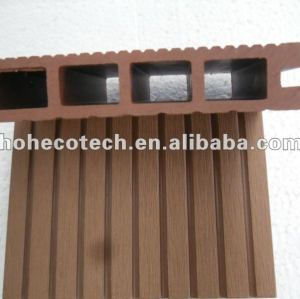 Easy installation high quality wpc hollow decking/wood plastic composite decking