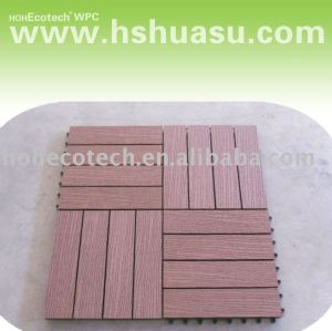 vente chaude ! decking/carrelage composés en plastique en bois respectueux de l'environnement
