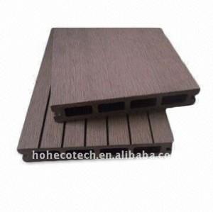 Più popolari! ~laminate pavimentazione di wpc ( in legno composito di plastica ) decking/pavimentazione ( ce, rohs, astm, iso9001, iso14001, intertek )