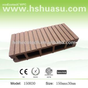 wood polymer composite deck material