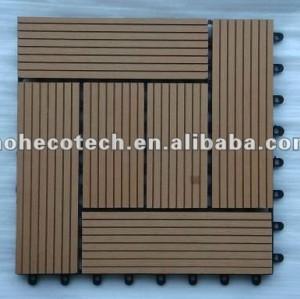 Carrelage imperméable à l'eau de panneau de sauna de WPC pour le jardin/balcon /backyard/courtyard