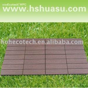 azulejo compuesto plástico de madera respetuoso del medio ambiente del decking