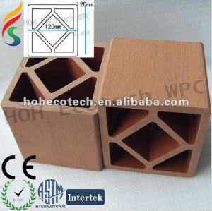 Venda quente ! Prova de água ( composto plástico de madeira ) pós wpc ao ar livre para as etapas/ pós trilhos/ pós escada