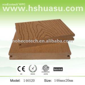 de madera maciza compuesto decking exterior