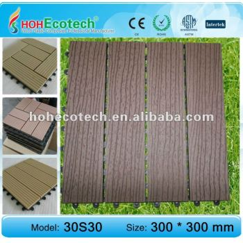wpc tile/eco-friendly wood plastic composite decking/floor tile