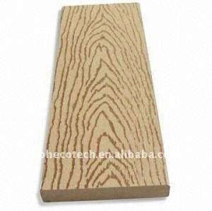 Decking en bambou gravant en refief gentil de composé de /WOOD de decking de WPC