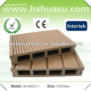 Anti-UV wood plastic composite outdoor decking (CE ROHS)