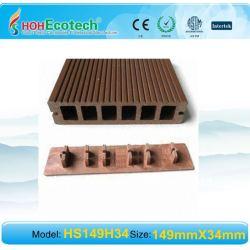 クリップまたは付属品WPCのフロアーリングとの防水木製のプラスチック合成のdeckingかフロアーリングの屋外のwpcの合成のdecking