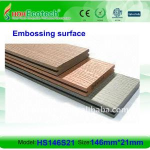 Solid design 146*21mm WPC wood plastic composite decking/flooring (CE, ROHS, ASTM, ISO 9001, ISO 14001,Intertek) wpc wooden deck