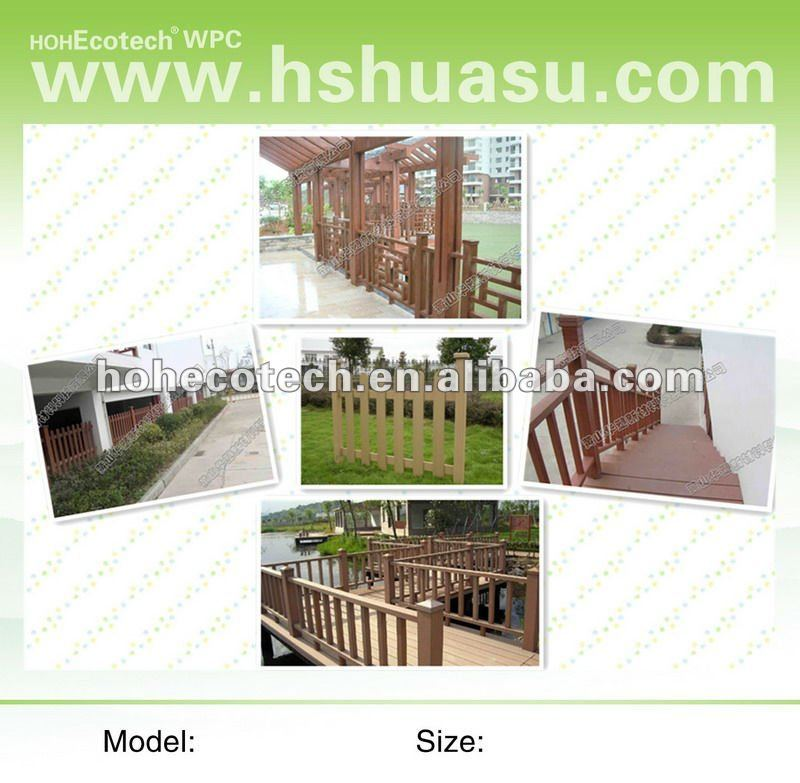 Natural wood feel WPC new fencing material /lawn and garden fencing/composite outdoor fence/plastic balcony fence