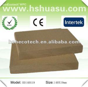 Decking extérieur en plastique en bois réutilisé de wpc (CE ROHS)