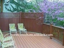 garantie de qualité ! Carrelage en bois extérieur composé en plastique en bois de wpc de plancher de decking/plancher
