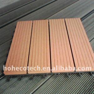 Diy schede decking giardino decorazione! Wpc legno decking composito di plastica/pavimentazione