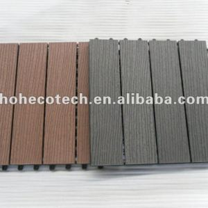 decking de 300mmx300mm WPC/carrelages de verrouillage durables