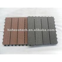 300mmx300mm Durable interlocking WPC decking/floor tiles