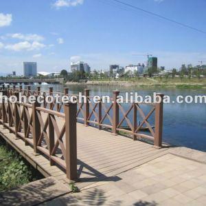 Novo estilo, composto plástico de madeira ponte dos trilhos