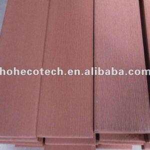 Wood plastic composite brush decking
